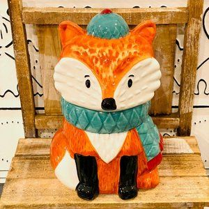 Harvest Fox Cookie Jar